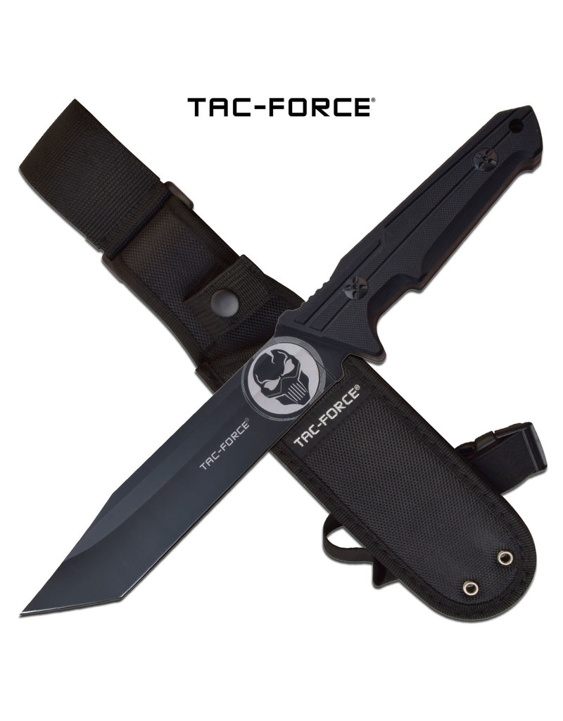 TAC-FORCE Couteau Lame Fixe Tanto Punisher Tac-Force