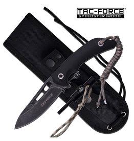 TAC-FORCE Couteau Tactical Lame Fixe Survie Allume feu Tac-Force