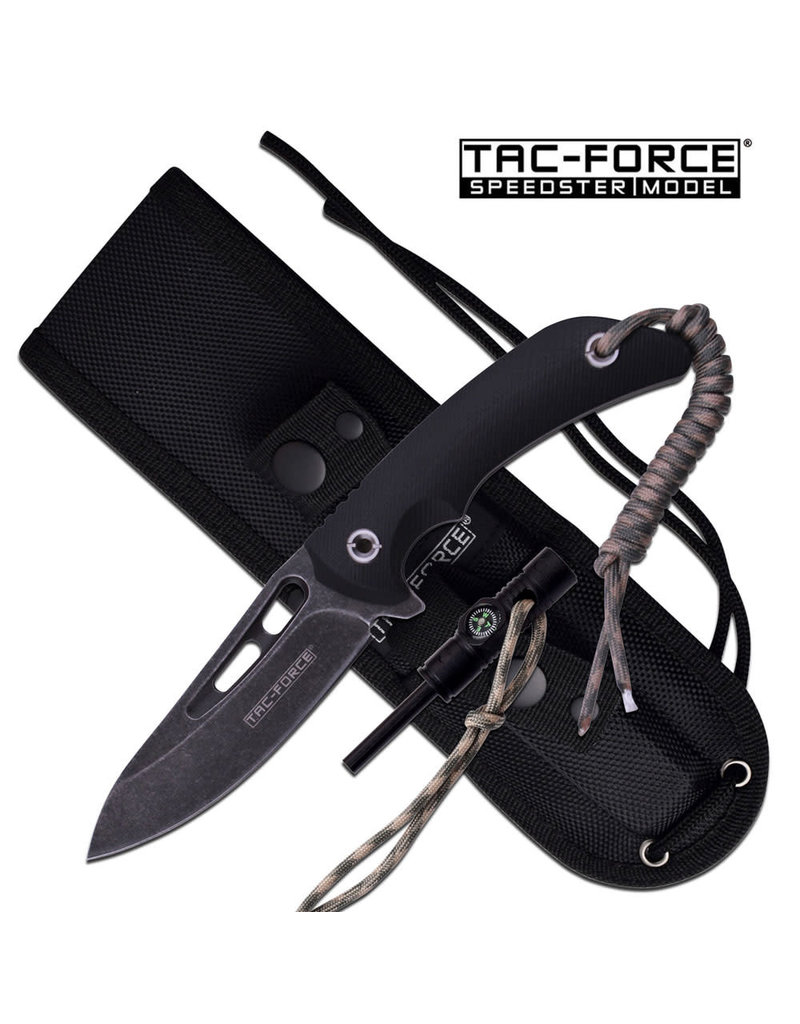 TAC-FORCE Tactical Knife Fixed Blade Survival Fire Starter Tac-Force