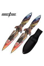 PERFECT-POINT Couteau de Lancer 2X Dragon Perfect Point