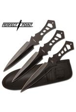 PERFECT-POINT Couteau de Lancer 3X Noir  Perfect Point