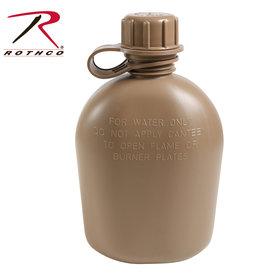 ROTHCO Canteen 1/4 Military Polyethylene Coyote Rothco