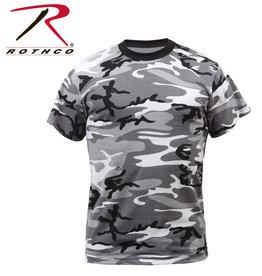 ROTHCO Chandail T-Shirt Camo Noir Gris Blanc Urbain Rothco
