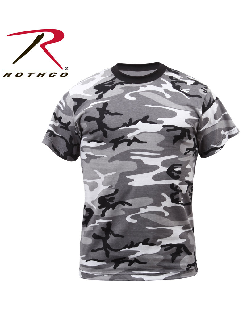 ROTHCO Rothco Urban Camo Black Gray White T-Shirt Sweater
