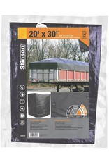 STINSON Heavy Duty Canvas 20X30 Multi-Use Black STINSON