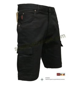 TOUGH-DUCK Tough Duck Stretch Cargo Work Bermuda Shorts Black