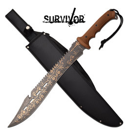 """SURVIVOR Machete Survivor 18 """"Pattern blade 3cr13"""
