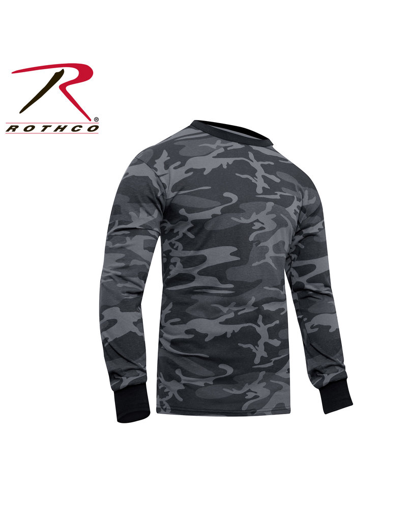 ROTHCO Chandail Manche Longue Camouflage Noir