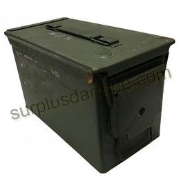 MILCOT Boite Caisse de Munition Militaire Calibre .50 Usagé