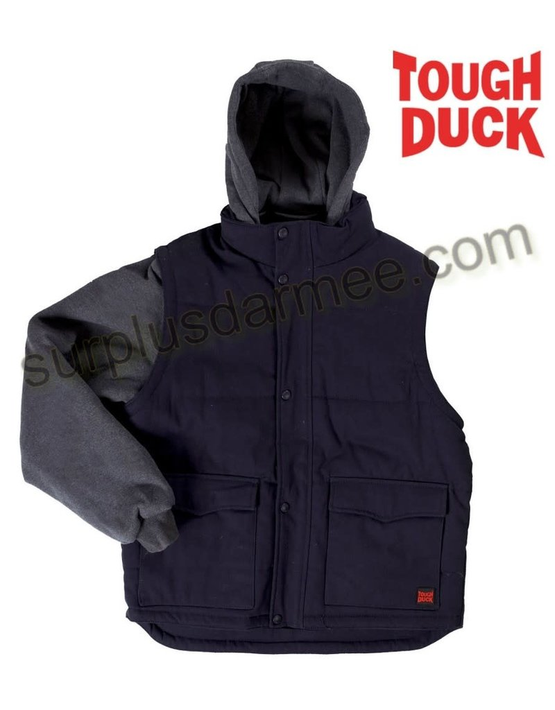 TOUGH-DUCK Work Coat Tough Duck Lined Removable Sleeve Jacket