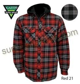 GATTS Gatts Pique Lined Hooded Work Shirt