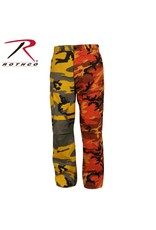 ROTHCO Rothco Two-Tone Camo Pants - Stinger Yellow/Savage Orange