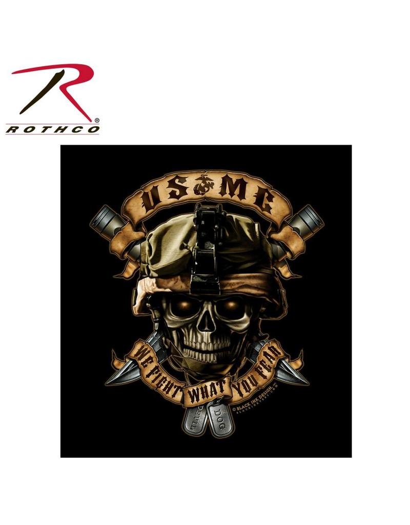 ROTHCO T-Shirt Rothco USMC We Fight What You Fear'