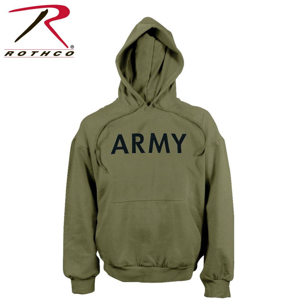 Rothco Army Pullover Hooded Sweatshirt - Army Supply Store Military 26122569ee8