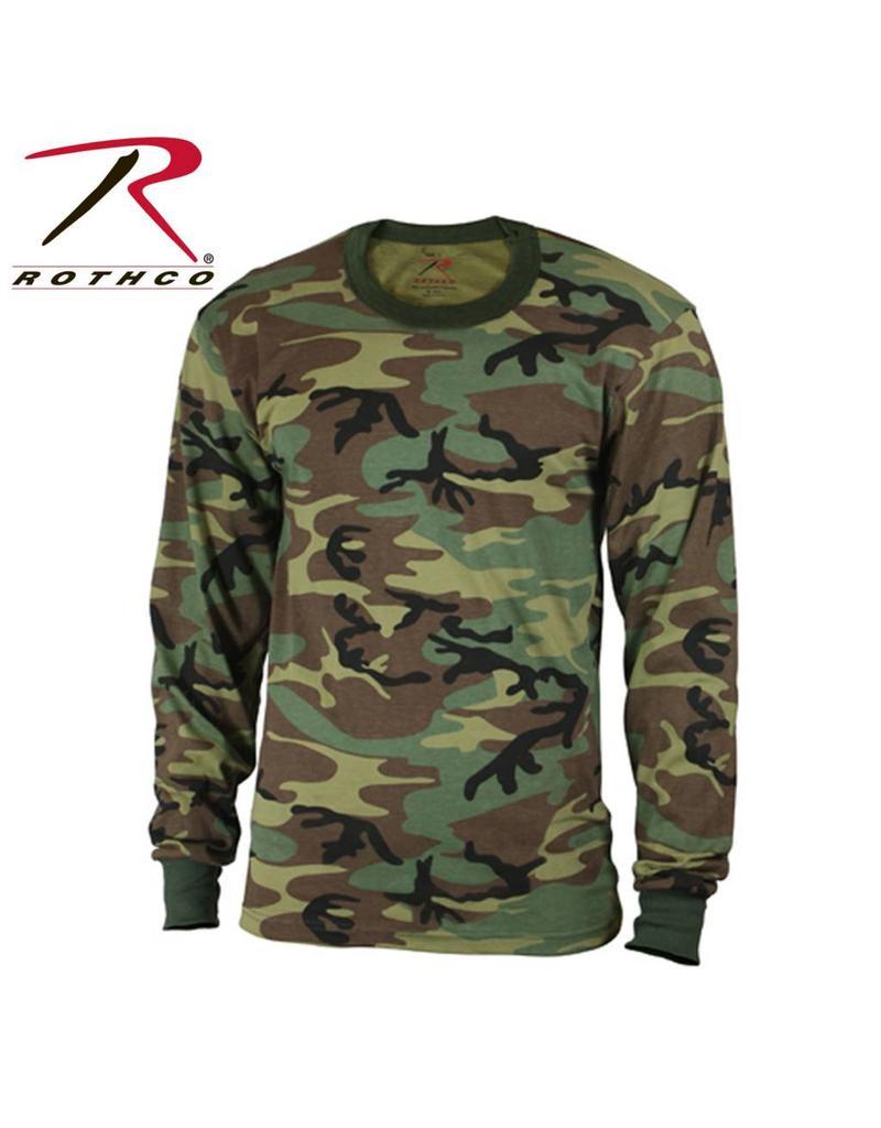ROTHCO Rothco Kids Long Sleeve Woodland Camo T-shirt