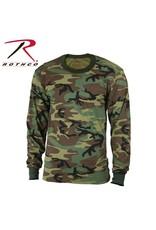 ROTHCO Rothco Long Sleeve Camo T-Shirt Woodland