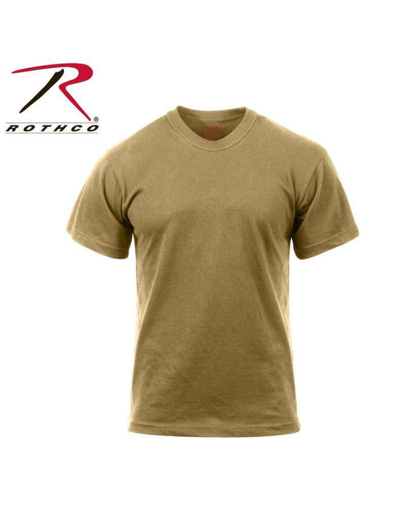 ROTHCO Rothco Moisture Wicking T-Shirts Coyote