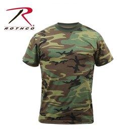 ROTHCO Chandail T-Shirt Rothco  Woodland Camo