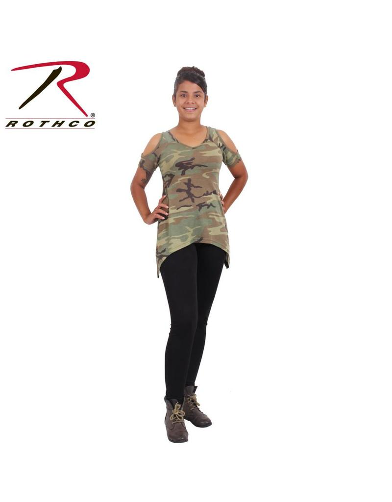 8ea78721c3fcb Rothco Womens Camo Cold Shoulder Top - Army Supply Store Military