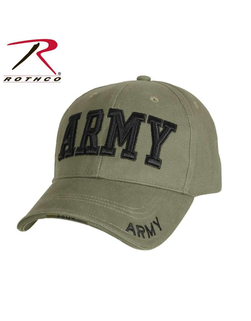 Rothco Deluxe Army Embroidered Low Profile Insignia Cap - Army ... 84e3816076f9
