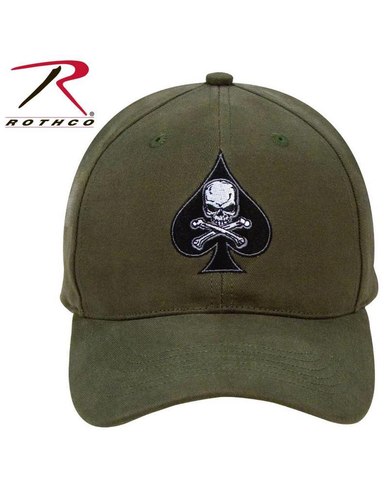 ROTHCO Black Ink Death Spade Low Profile Insignia Cap