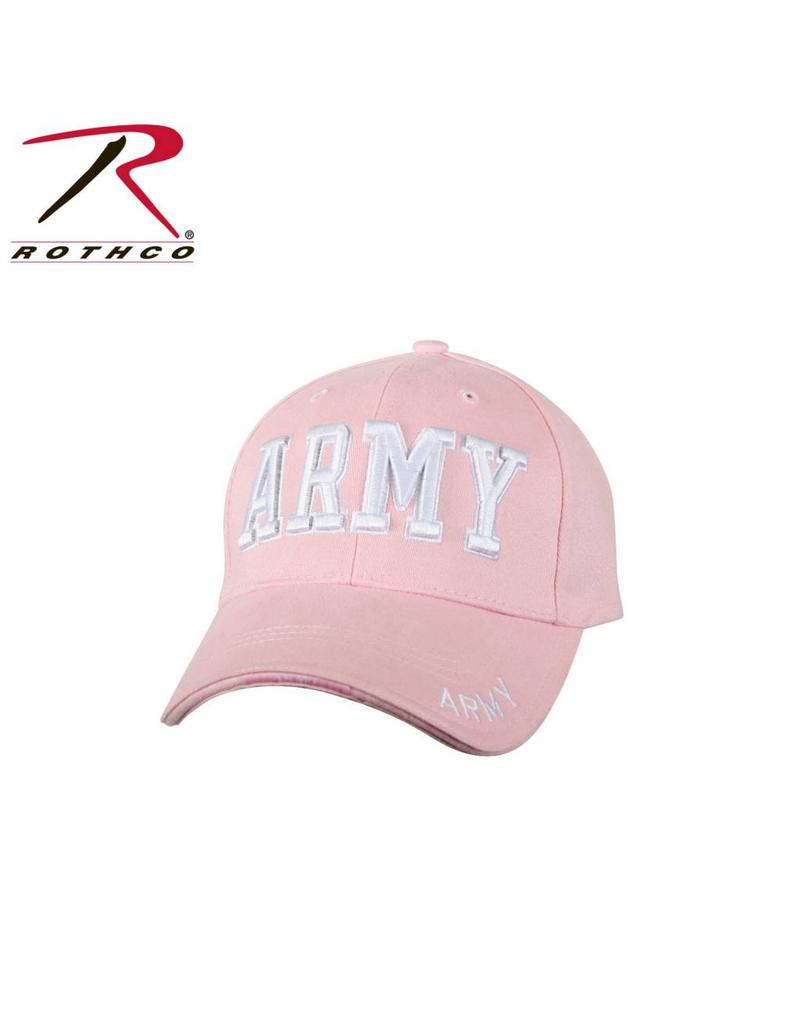 ROTHCO Rothco Deluxe Army Wife Pink Low Profile Insignia Cap
