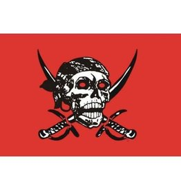 DRAPEAU IMPORT Drapeau Pirate Tout Red 2 Sabre
