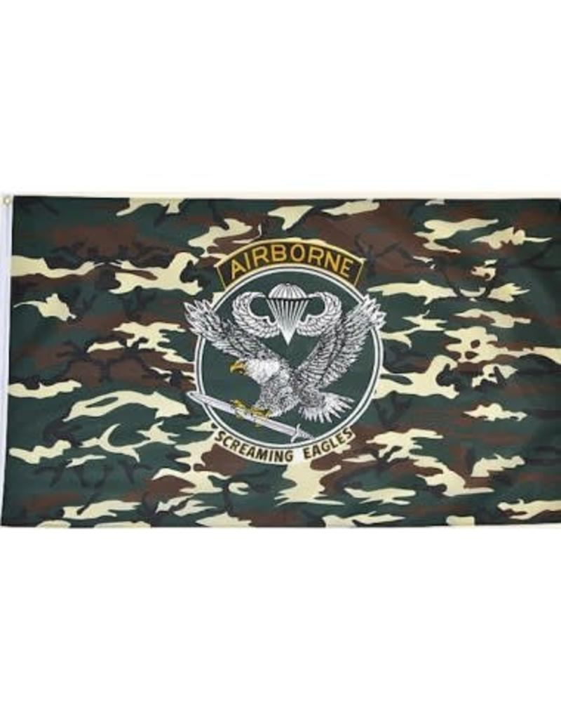 DRAPEAU IMPORT Airborne Flag Camo Eagle