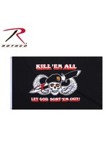 ROTHCO Drapeau Militaire Kill Em All Rothco