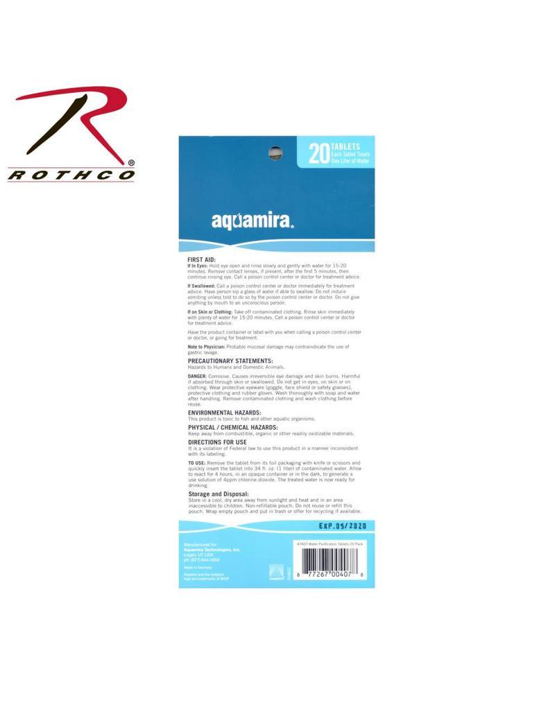 AQUAMIRA Aquamira Tablettes Purifier L'eau