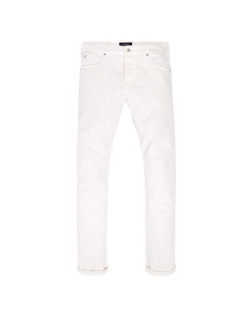 Scotch & Soda Ralston Jean | Garment Dyed | Optic White