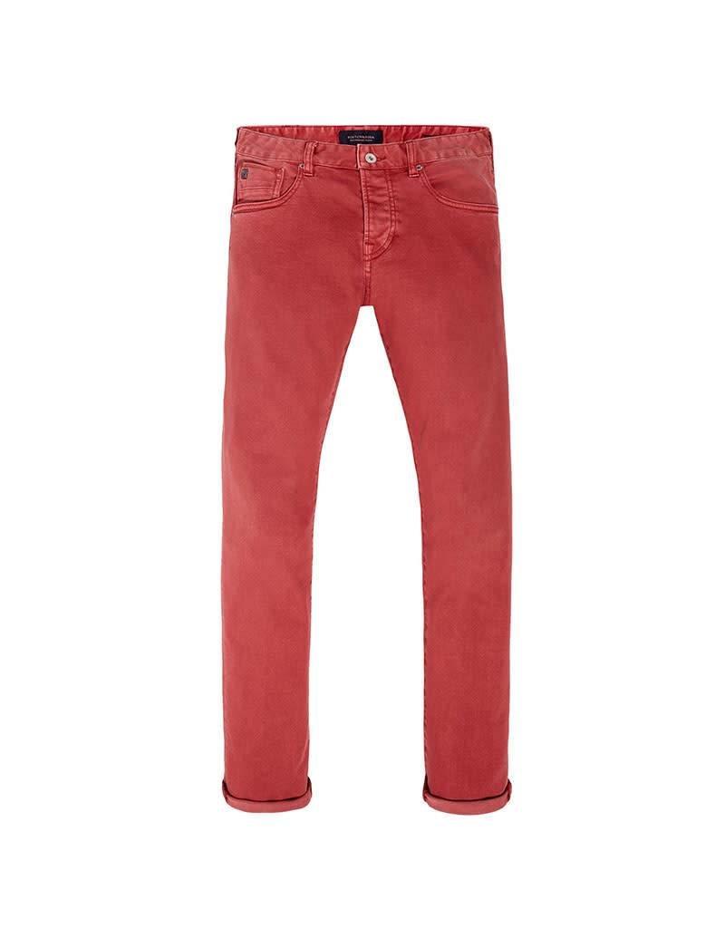 Scotch & Soda Ralston Jean | Garment Dyed | Chili Red