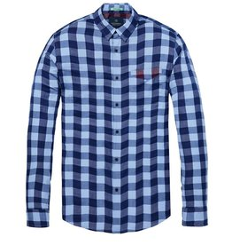 Scotch & Soda Shirt With Colourful Check | Blue 142477-0220