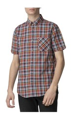 Ben Sherman Short Sleeve Check | Soft Red