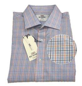 Ben Sherman Tailored Shirt | Blue Orange Check