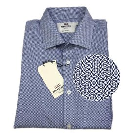 Ben Sherman Tailored Shirt | Navy Circles