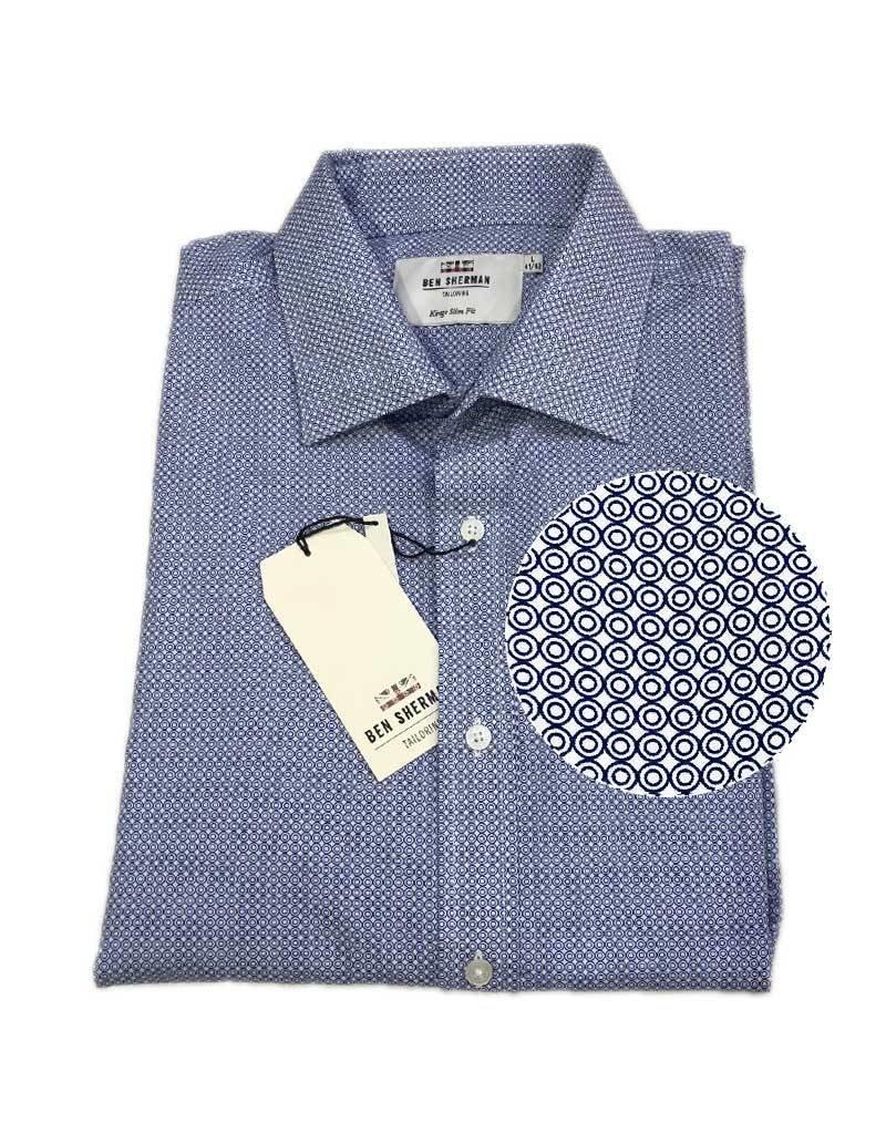 Ben Sherman Tailored Shirt | Navy Circles