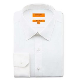Ganton White Cotton Stretch Slim Fit | White 7014SS