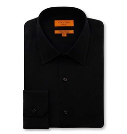Ganton Black Cotton Stretch Slim Fit | Black 7014SS