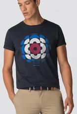 Ben Sherman Kaleidoscope Graphic Tee Shirt  | Navy