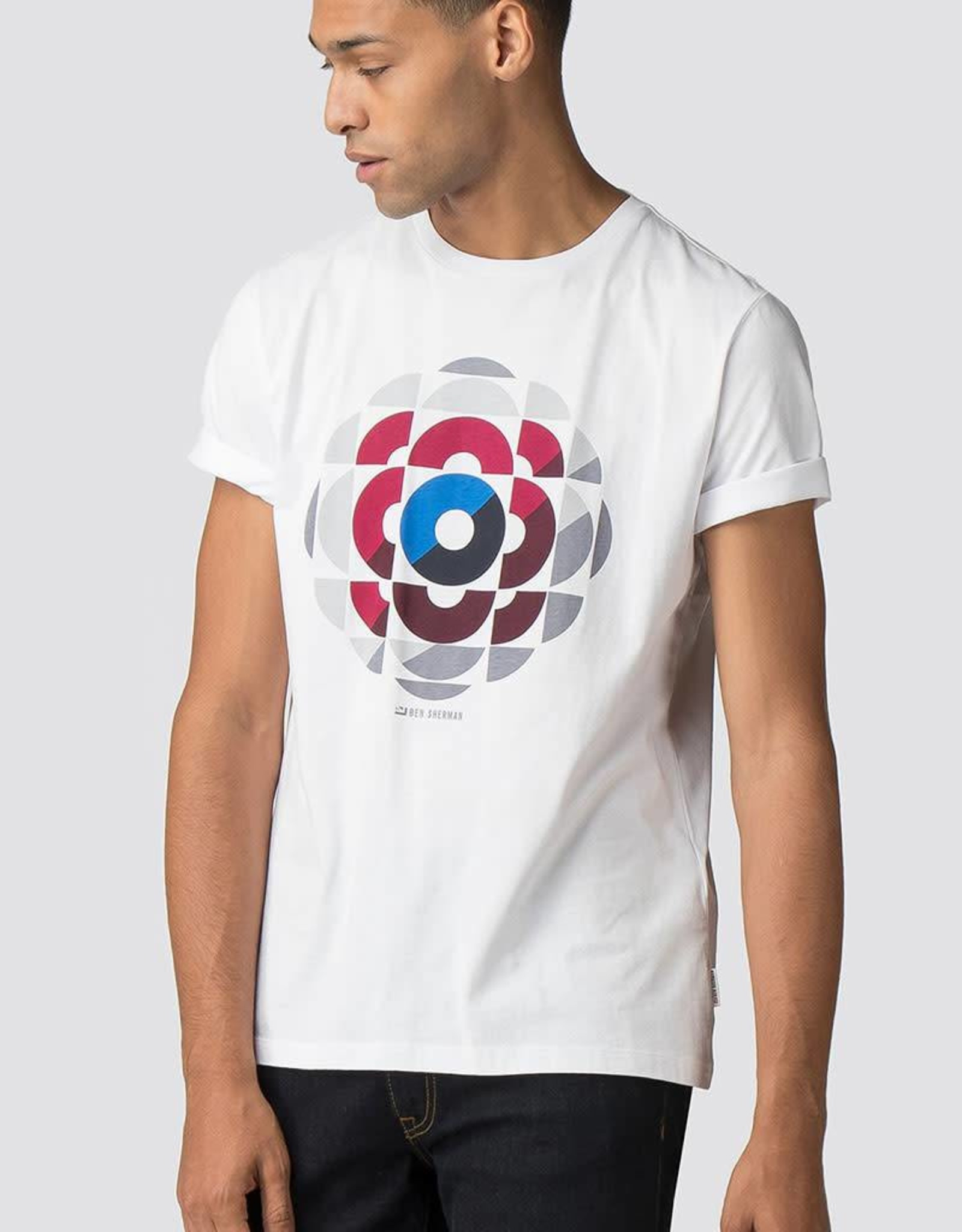 Ben Sherman Kaleidoscope Graphic Tee Shirt    White