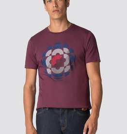 Ben Sherman Kaleidoscope Graphic Tee Shirt  | Wine