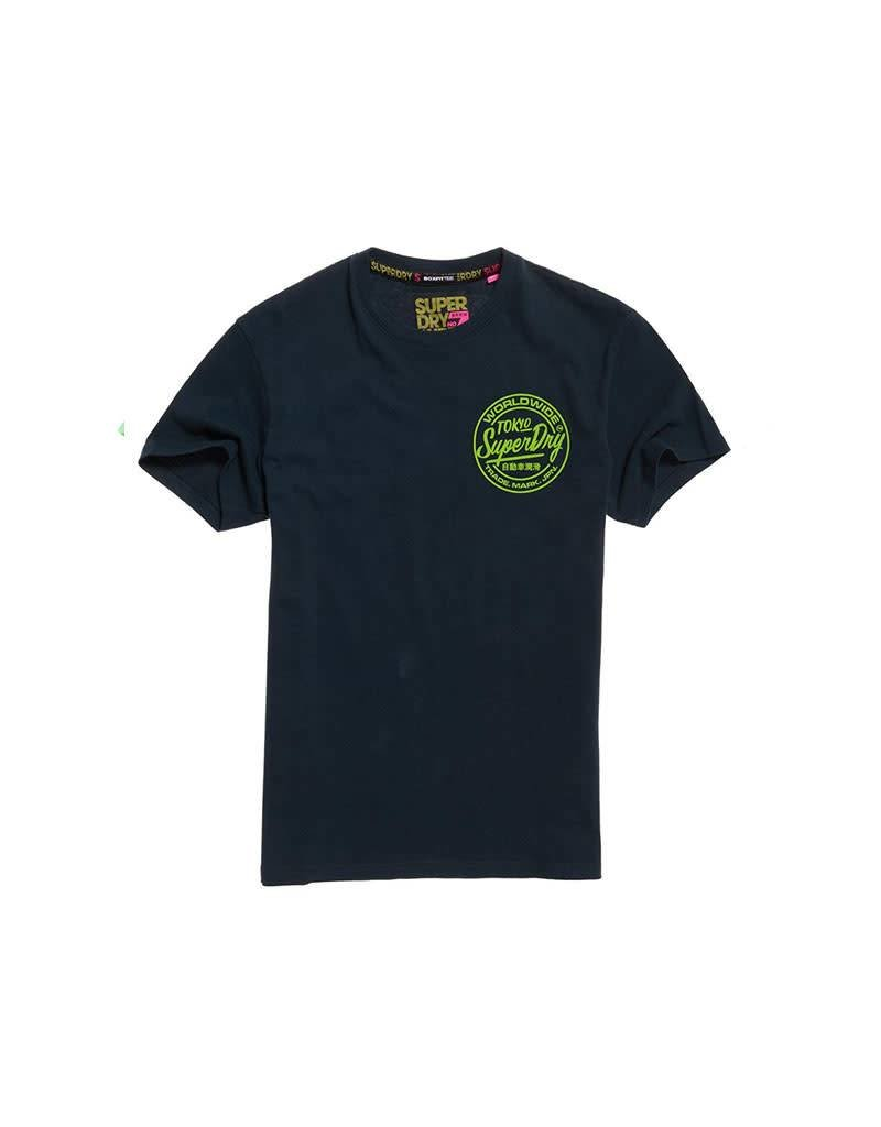 Superdry Ticket Type Box Fit Tee   Navy
