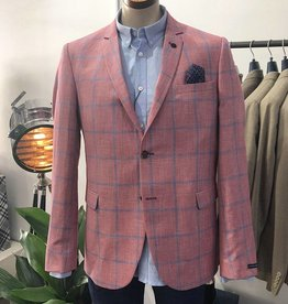 Thomson & Richards Thomson Check Linen Jacket | Pink