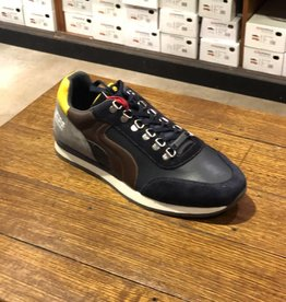Ambitious All Leather Casual Walking Shoe   Navy