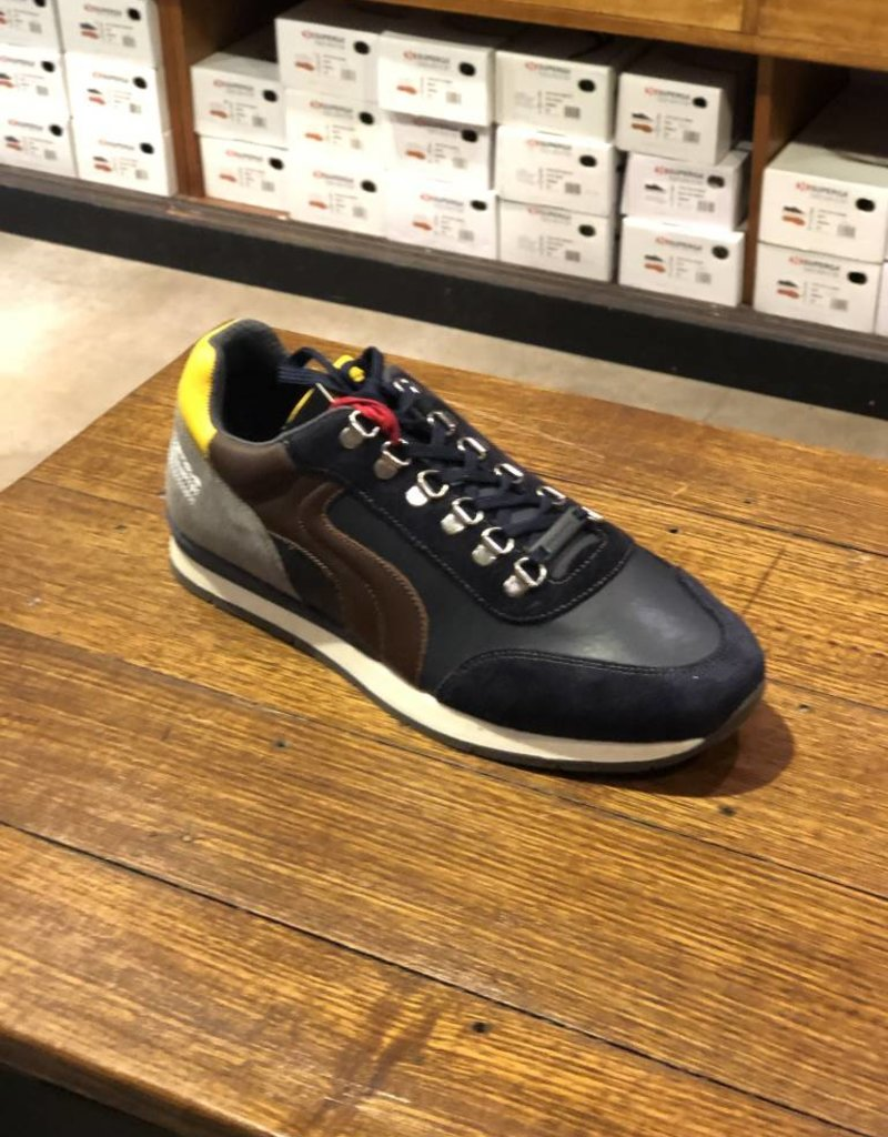 Ambitious All Leather Casual Walking Shoe | Navy