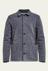 No Nationality Boiled Wool Jacket | Grey Marle