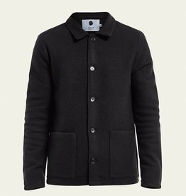No Nationality Boiled Wool Jacket | Black