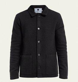 No Nationality Boiled Wool Jacket | Black