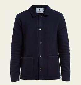 No Nationality Boiled Wool Jacket | Navy